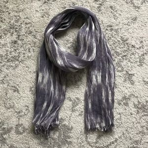 J. Crew Purple and White Scarf